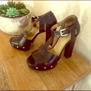 Michale Kors Black Platform Shoes